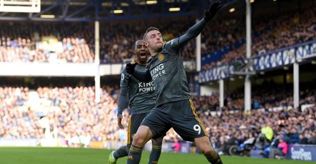 Leicester City Everton Deplasmanında Vardy'le Güldü
